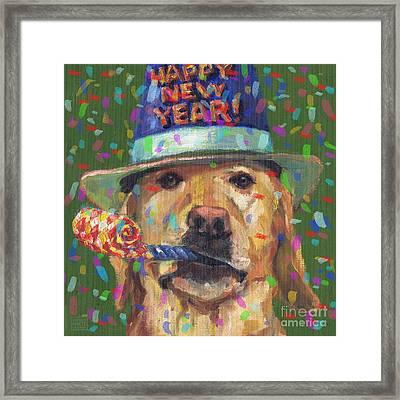 New Year Lab Framed Print by Kathleen Harte Gilsenan