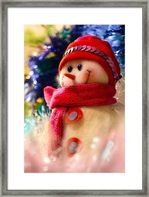 New Year Snowman Framed Print by Irina Effa