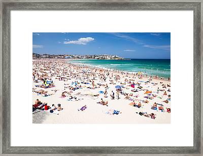 New Year's Day At Bondi Beach Sydney Australi Framed Print by Matteo Colombo