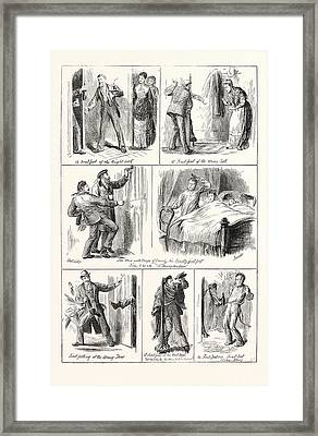 New Years Day In Scotland, First Footing, Engraving 1876 Framed Print
