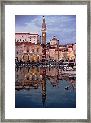 New Years Day Piran Framed Print