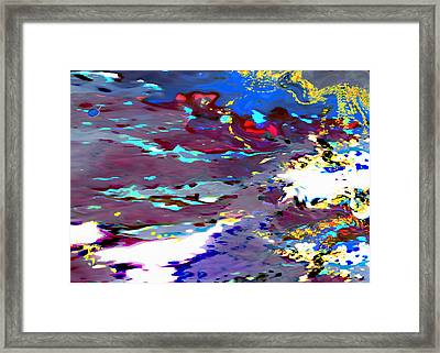 New Year's Day Rain On Snow Framed Print by Mathilde Vhargon