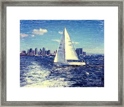 New Years Day Sailing Framed Print
