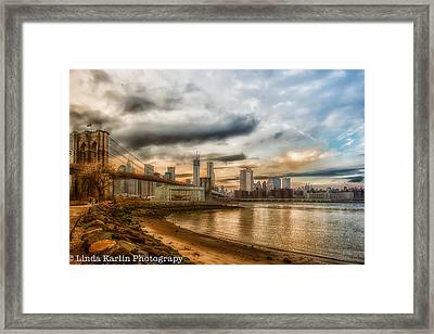 New Year's Day Sunset Framed Print