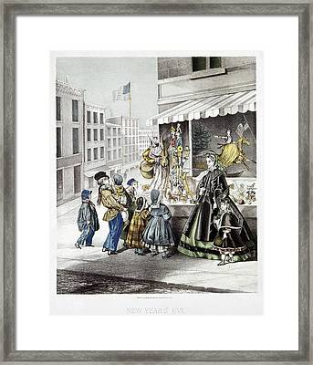 New Year's Eve, 1865 Framed Print by Granger