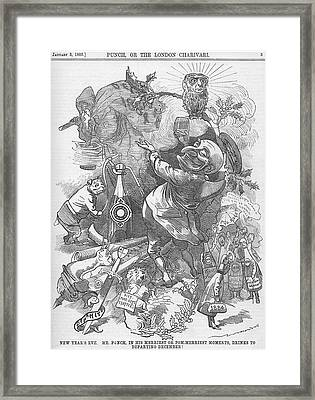 New Years Eve 1884 Framed Print by Konni Jensen
