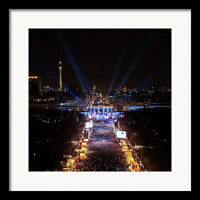 Berlin At Night Framed Prints