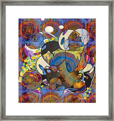 New Year's Eve Celebration Framed Print by Gabrielle Schertz
