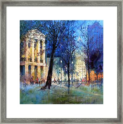 New Year's Eve Downtown Framed Print
