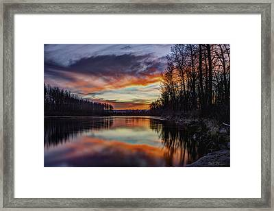 New Years Eve Sunset Framed Print by Charlie Duncan