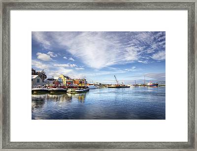 New Years In Portsmouth Nh Framed Print