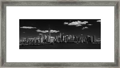 New York 1 Black And White Framed Print