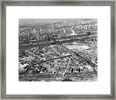 New York 1937 Aerial View  Framed Print