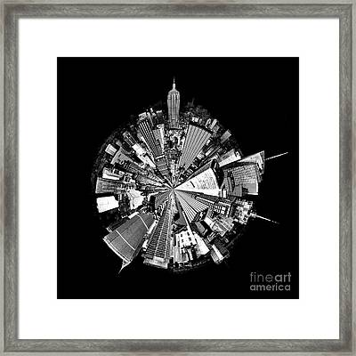 New York 2 Circagraph Framed Print by Az Jackson