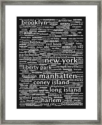 New York 20130709bw Framed Print
