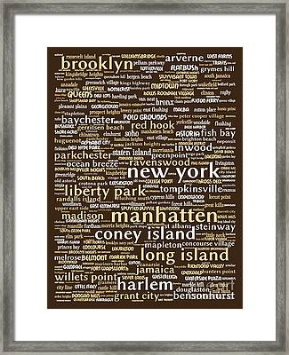 New York 20130709bwwa85 Framed Print