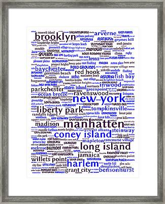 New York 20130709whi Framed Print