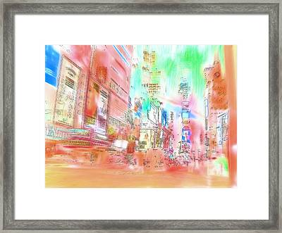 New York Abstract Framed Print by Tom Gowanlock