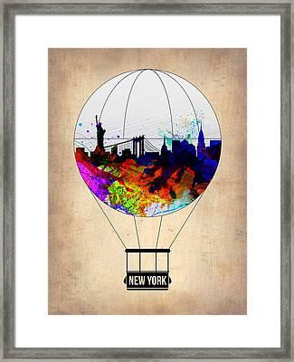 New York Air Balloon Framed Print
