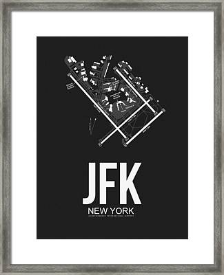 New York Airport Poster 1 Framed Print