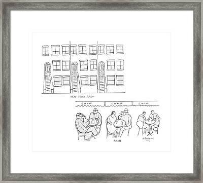 New York And -   Paris Framed Print