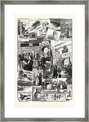 New York Annual Exhibition Of The American Watercolor Framed Print by English School