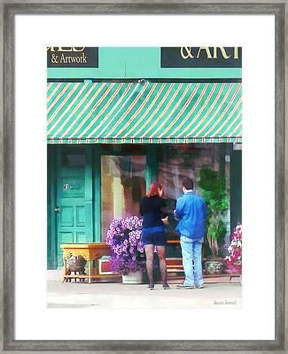 New York - Antique Shop Canandaigua Ny Framed Print by Susan Savad