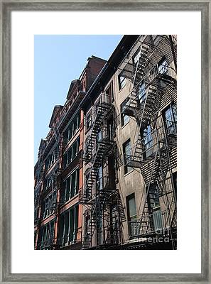 New York Apartments  Framed Print
