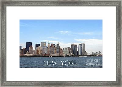 Framed Print featuring the photograph New York As I Saw It In 2008 by Ausra Huntington nee Paulauskaite