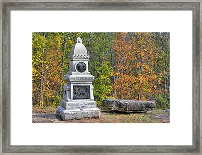 New York At Gettysburg - 149th Ny Infantry Autumn Mid-afternoon Culp's Hill Framed Print