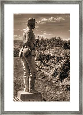 New York At Gettysburg - 84th Ny Vol Infantry 14th Brooklyn Regiment Red Legged Devils Railroad Cut Framed Print