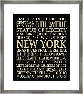 New York Attractions Framed Print by Jaime Friedman