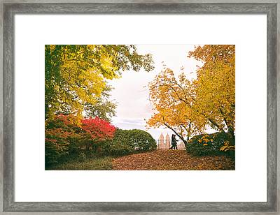 New York Autumn - Central Park Fall Foliage Framed Print by Vivienne Gucwa