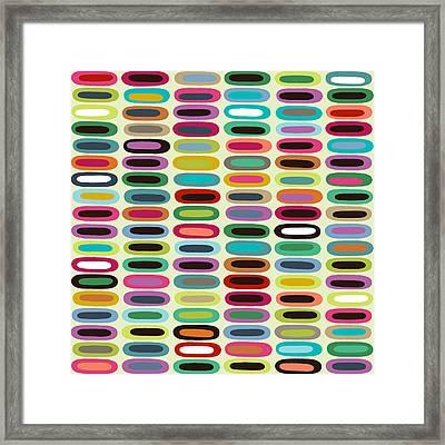 New York Beauty Cream Lozenge Framed Print by Sharon Turner