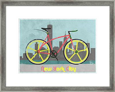 New York Bike Framed Print by Andy Scullion