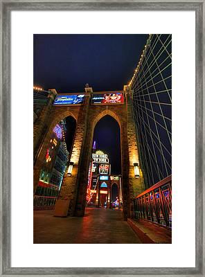 New York Bridge Framed Print by Zachary Cox