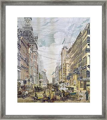 New York Broadway, C1885 Framed Print by Granger