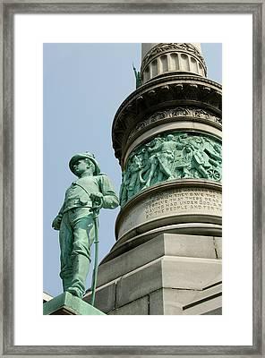 New York, Buffalo, Lafayette Square Framed Print