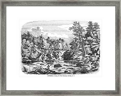 New York Buttermilk Falls Framed Print by Granger
