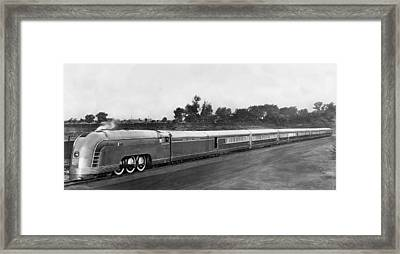 New York Central Mercury Train Framed Print by Underwood Archives