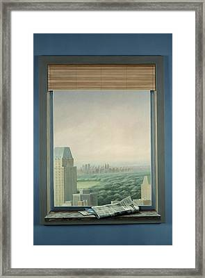 New York Central Park Framed Print