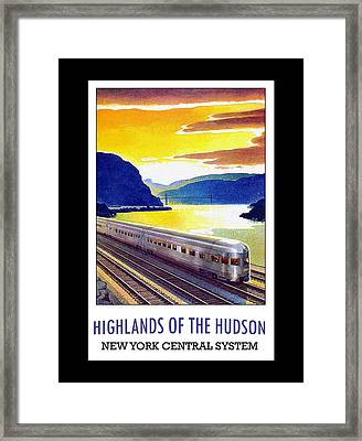 Framed Print featuring the digital art New York Central Vintage Poster by Denise Beverly