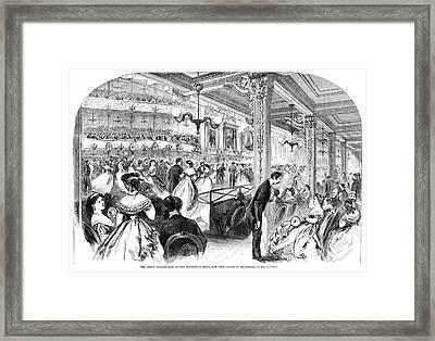 New York Charity Ball, 1866 Framed Print