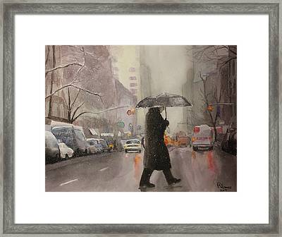 New York Chill Framed Print