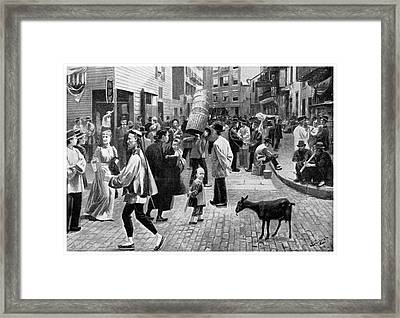 New York Chinatown, 1896 Framed Print