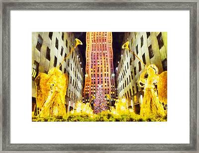 New York Christmas Framed Print