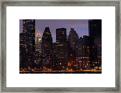 New York Chrysler Building    Framed Print by Juergen Roth