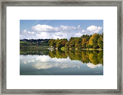 Framed Print featuring the photograph New York Cincinnatus Lake by Christina Rollo