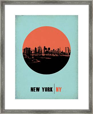 New York Circle Poster 2 Framed Print by Naxart Studio