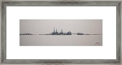 New York City 2013 Skyline 20x60 Framed Print